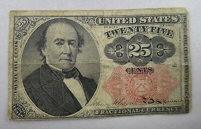 1874 25 Cents US Fractional Currency Paper Money Bill Note
