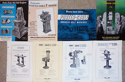 -Huge- Vintage -Porter-Cable- Industrial Metalworking Machine Trade Catalog Lot