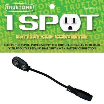 Visual Sound Cbat 1 One-Spot Battery Clip Converter Cable 9V Power Adapter *new*