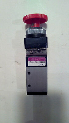 Emergency Stop Button Detented 3-Way, 3-Port, 2-Position 1/4 NPT Manual Valve