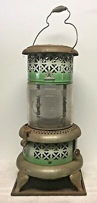 Antique Perfection 1690 Kerosene Heater w/ Glass Globe & Brass Tank