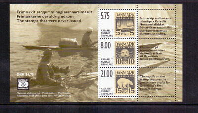 Greenland 2001 Essays M/sheet Mnh Cat £13.50