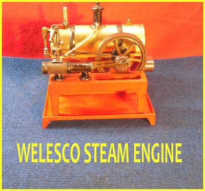 Welesco Steam Engine On Base--Runs--Electric Fired---Nice One!