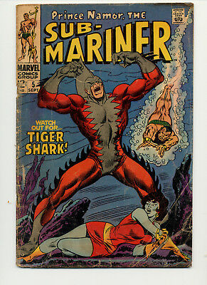 Sub-Mariner #5 (1968 Marvel) 1St Appearance Of Tiger Shark