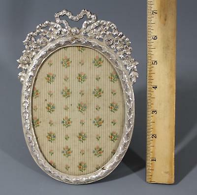 Antique Victorian Late 19thC Hallmarked Silver Oval Picture Frame, Louis XVI, NR