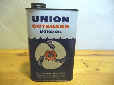 Vintage - Union 76 - Outboard Motor Oil Can - Full
