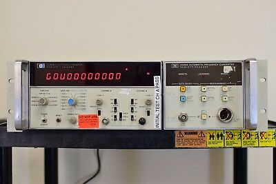 HP Agilent 5345A Electronic Counter with 5355A Automatic Frequency Converter