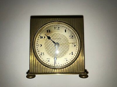 Zenith Small mantle alarm clock.5cmx5cm Brass case (Made in France).