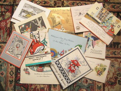 1920's and 1930's Vintage CHRISTMAS Greeting Cards- Lot of 15