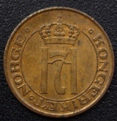 Norway 1911 Ore  Km#367  Near Gem Uncirculated Red-Brown