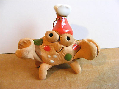 Little Guys Santa Crab Retired Christmas Ornament Miniature Cindy Pacileo