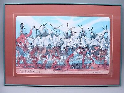 Navajo Baje Whitethorne Signed Eight Is Enough Limited Edition Print 62/250 COA
