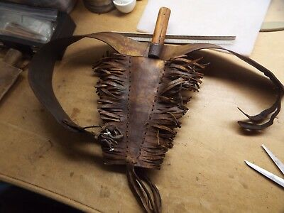 Rare 1800S  Native American Indian Painted Design  Belt And Sheath Plus Knife