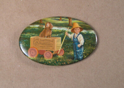 Antique Advertising Celluloid Pocket Mirror Berry Brothers Varnishes