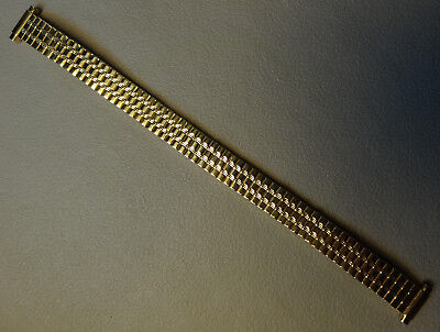 New Womens Hirsch Expansion 10-12mm Yellow Gold Tone Watch Band $18.95 MSRP