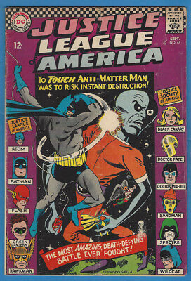 Justice League of America/JLA 47 VG 1966 DC JSA X-Over Spectre Solomon Grundy