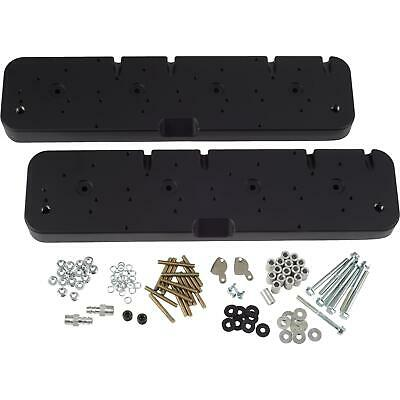 Speedway SBC Valve Cover Adapters/Coil Covers for LS V8, Black