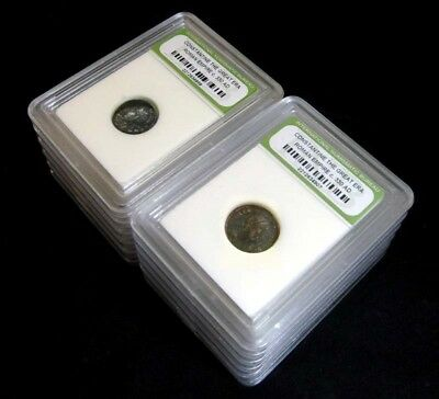 10 Slabbed Ancient Roman Constantine the Great Coins Nice Quality c 330 AD a1