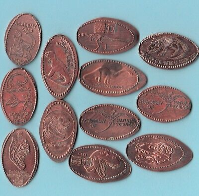 [Z] LOT of 12 ~ DINOSAUR ~ ALL DIFFERENT DESIGNS . PENNY
