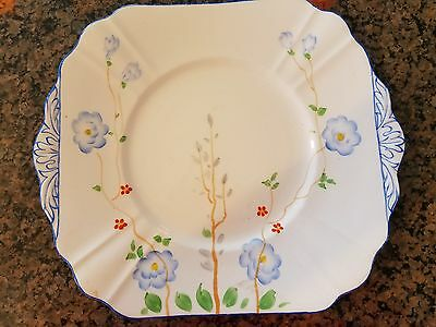 """Phoenix China T. F. & S. Lyd Made in England Square 9 3/4"""" Tray Plate"""