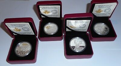 4 Coin 2014 $20 Silver Whitetail Deer Coin Series Lot Lt300-11