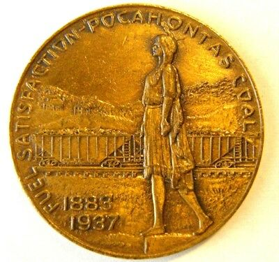 1937 Pocahontas Coal Co Medal Celebrating 100 Years Of Mercer County W.virginia