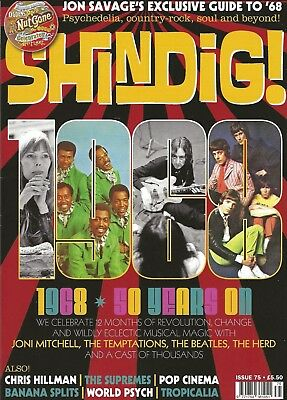 """Shindig! Issue #75 Jan 2018 Special """"1968"""" Issue Joni Mitchell Beatles Supremes"""