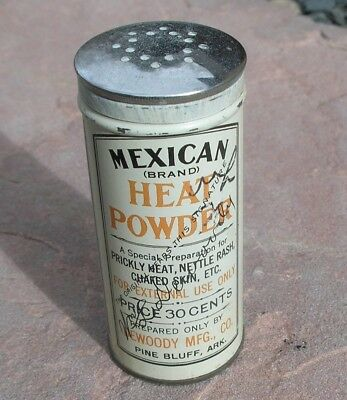 Vintage MEXICAN Heat Powder TIN Full