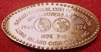 DOW-342: Vintage Elongated cent - GREATER NEW YORK COIN CONVENTION MAY 2-5 1974