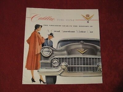 1954 Cadillac Original Factory Showroom Dealership Salesman Brochure Old Poster