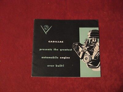 1949 Cadillac V8 Engine Original Factory Showroom Dealership Salesman Brochure