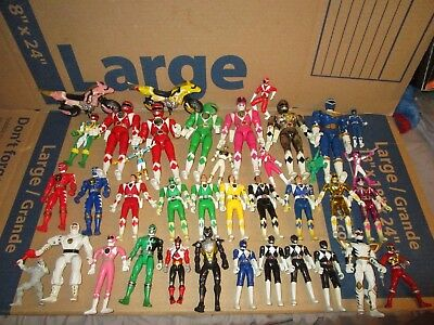 Huge Lot Of Power Rangers figures Bunches of them MUST SEE LOT Vintage & Modern