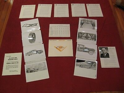 1954 Cadillac Dealer Press Release kit Original Showroom Salesman Brochure