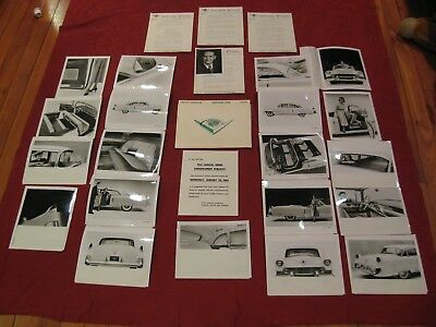 1954 Cadillac Dealer Press Release kit Original Showroom Salesman Brochure style