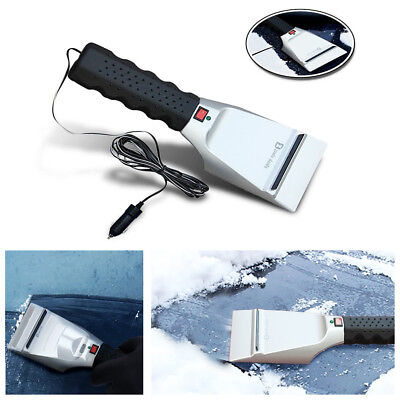 12V Heated Car Winter Windshield Electric Scraper Heating Snow Ice Brush Shovel
