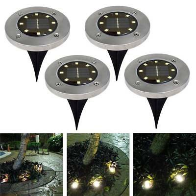 8 LED Solar Power Buried Light Under Ground Lamp Outdoor Path Way Garden Decking