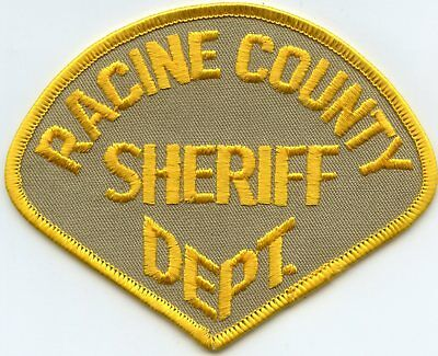 old vintage RACINE COUNTY WISCONSIN WI SHERIFF POLICE PATCH