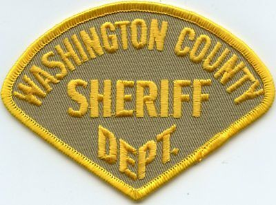 old vintage WASHINGTON COUNTY WISCONSIN WI SHERIFF POLICE PATCH
