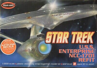 Star Trek U.S.S. Enterprise NCC-1701 Refit 1:1000 Polar Lights POL820 Bausatz