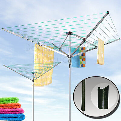 Outdoor Rotary Airer Garden Washing Line 30M 50M Heavy Duty Sturdy Dryer Laundry