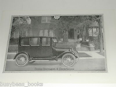 1920 Dodge Brothers Motor Car advertisement page, Dodge sedan photo