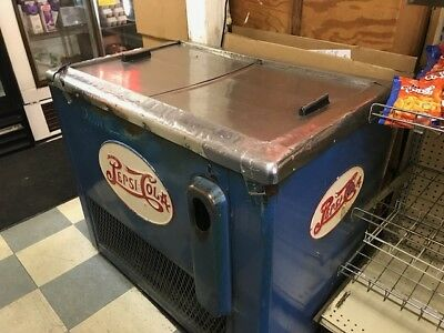 Vintage 20's-30's Blue and Red Large Pepsi Chest