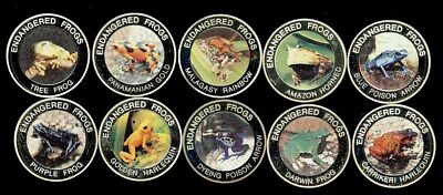 Malawi 2010 10 Kwacha Endangered Frogs Series Complete 10 Coin Proof Set