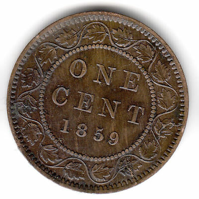 Canada 1 Cent 1859 Victoria Scarce           170Q       By Coinmountain