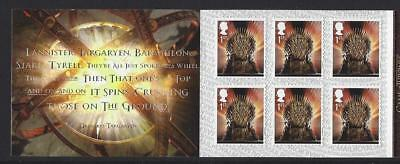Great Britain 2018 Game Of Thrones Self Adhesive Booklet Unmounted Mint, Mnh