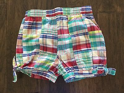 Girls Kelly's Kids Multi Colored Plaid Shorts Size 5-6 **EEUC**