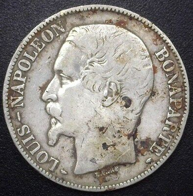 France 1852-A Silver 5 Francs  Very Fine