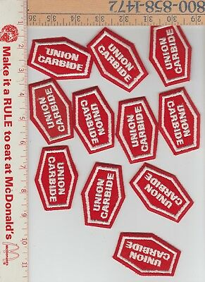 11 union carbide nos collectable patches