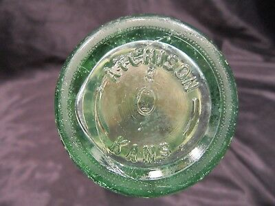 Coke Atchison Kansas 1959 Coca Cola 6-1/2 Ounce Glass Bottle Hobble Skirt Logo