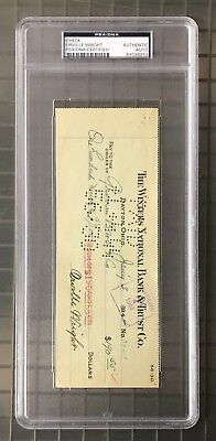 "Orville Wright Signed 1944 Check PSA/DNA Autograph AUTO "" Invented Plane """